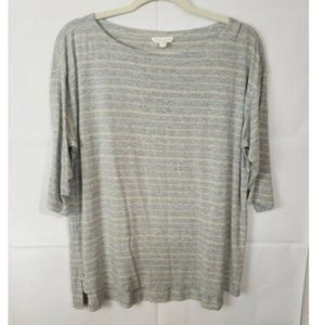 Eileen Fisher Striped Boat Neck Shirt